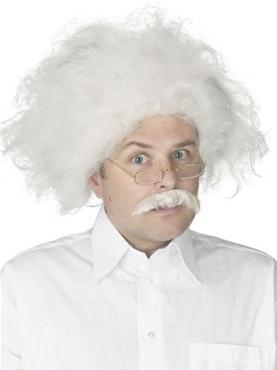 Adult Albert Einstein Wig and Moustache