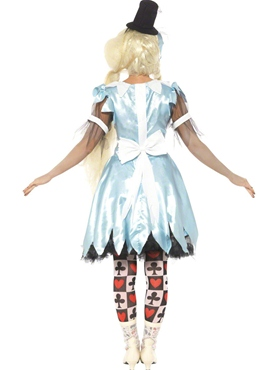 Adult Alice in Blunderland Costume - Side View