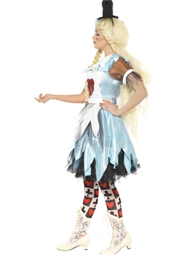 Adult Alice in Blunderland Costume - Back View