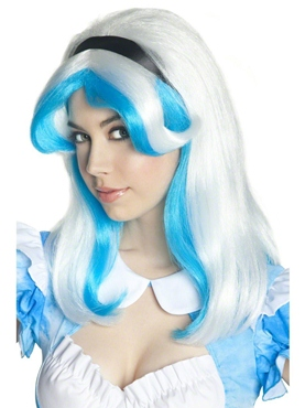 Alice in LSD Land Blue and White Wig