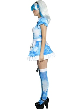 Adult Alice in LSD Land Costume - Back View