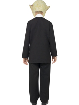 Child Alien Agent Costume - Side View