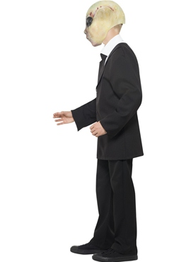 Child Alien Agent Costume - Back View