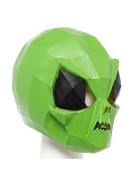 Alien Bug Full Head Mask - Back View