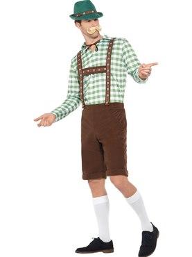 Alpine Bavarian Costume - Back View