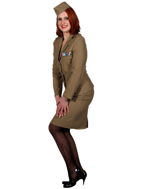 Adult Andrews Sisters American Army Costume Couples Costume