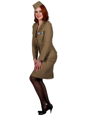 Adult Andrews Sisters American Army Costume Thumbnail