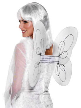 Angel Net Wings White Silver
