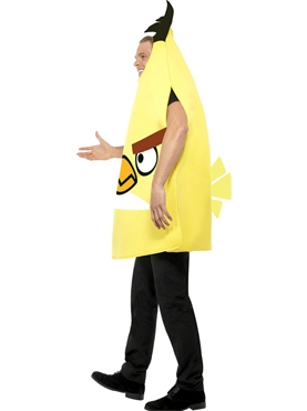 Adult Angry Birds Yellow Costume - Back View