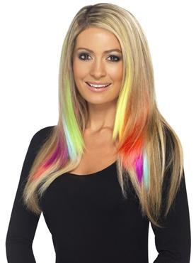 Aqua Hair Extensions - Back View