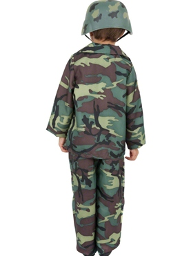 Child Army Boy Costume - Side View