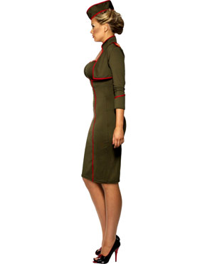 Adult Army Girl Costume - Side View