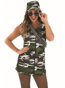 Adult Army Girl Costume Thumbnail
