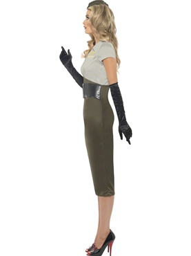 Adult Army Pin Up Costume - Back View