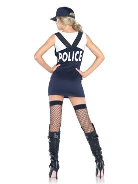 Adult Arresting Officer Costume - Back View