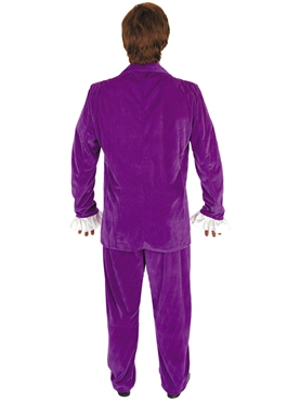 Adult Austin Powers Purple Costume - Side View