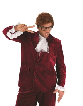 Adult Austin Powers Red Costume - Back View
