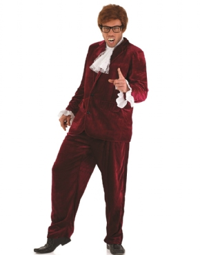 Adult Austin Powers Red Costume