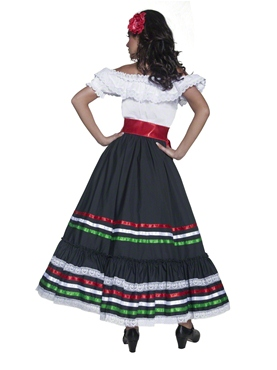 Adult Authentic Western Sexy Senorita Costume - Side View