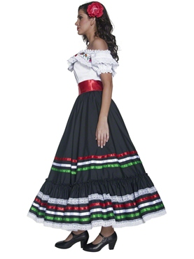 Adult Authentic Western Sexy Senorita Costume - Back View