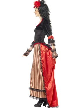 Adult Authentic Western Town Sweetheart Costume - Back View