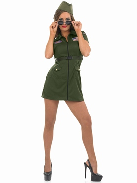 Adult Aviator Girl Costume - Back View