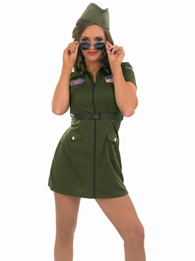 Adult Aviator Girl Costume