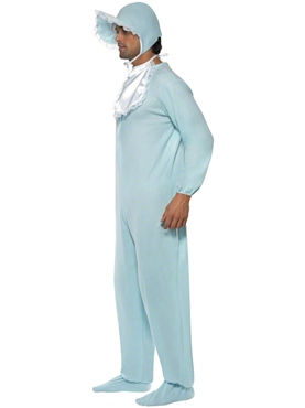 Baby Onesie Costume Blue - Side View