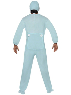 Baby Onesie Costume Blue - Back View