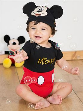 Baby Disney Mickey Mouse Jersey Bodysuit Couples Costume