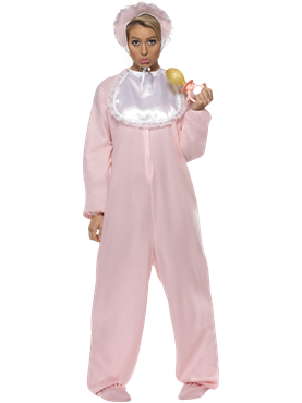 Adult Baby Onesie Costume Pink Couples Costume