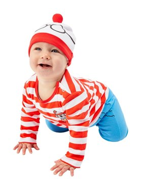 Baby Where's Wally Costume - Back View
