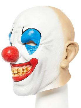 Bald Clown Full Head Mask - Side View