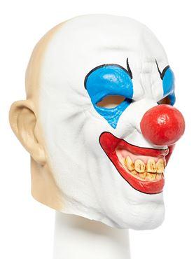 Bald Clown Full Head Mask - Back View