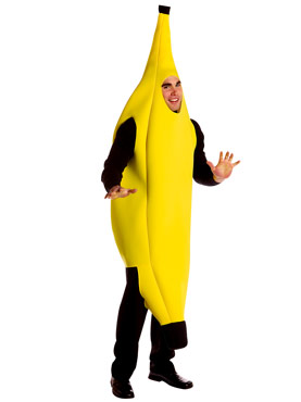Adult Banana Deluxe Costume Thumbnail