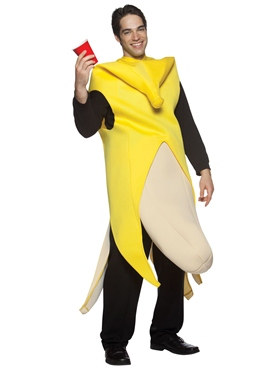 Adult Banana Flasher Costume - Back View