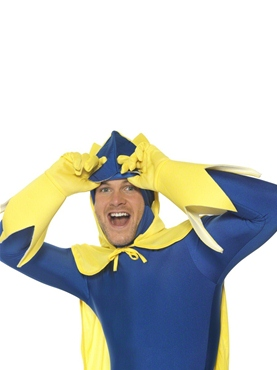 Adult Bananaman Second Skin Costume - Side View