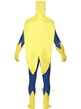 Adult Bananaman Second Skin Costume - Back View