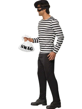 Adult Bank Robber Costume - Back View
