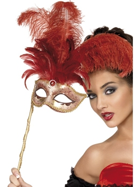 Baroque Fantasy Mask with Feathers