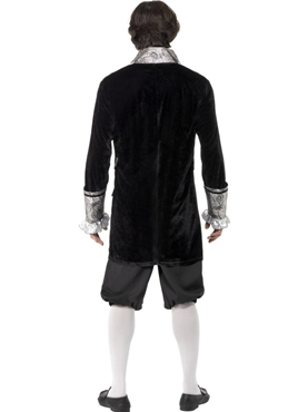 Adult Deluxe Baroque Mens Vampire Costume - Back View