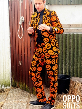 Adult Pumpking Oppo Suit - Back View