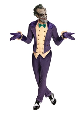 Adult Batman Arkham City The Joker Costume Couples Costume