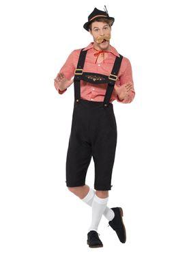 Bavarian Beer Guy Costume - Back View