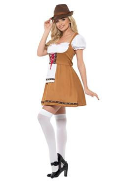 Bavarian Beer Maid Costume - Back View