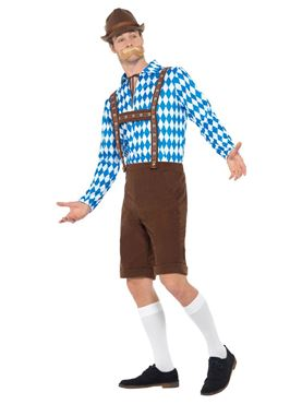 Bavarian Beer Man Costume - Side View
