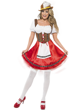 Adult Bavarian Beer Wench Oktoberfest Costume Couples Costume