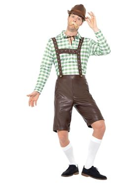 Bavarian Man Costume - Back View