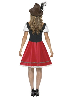 Adult Bavarian Beer Wench Oktoberfest Costume - Side View