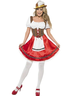 Adult Bavarian Beer Wench Oktoberfest Costume Thumbnail